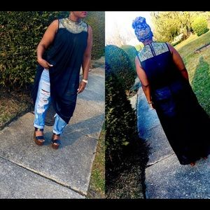 Dresses & Skirts - Jeweled High Neck Cover Up Or Maxi Dress